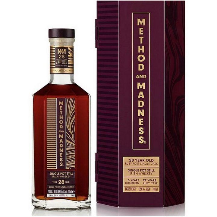 Method & Madness 28 Year Old Ruby Port Pipe Irish Whiskey