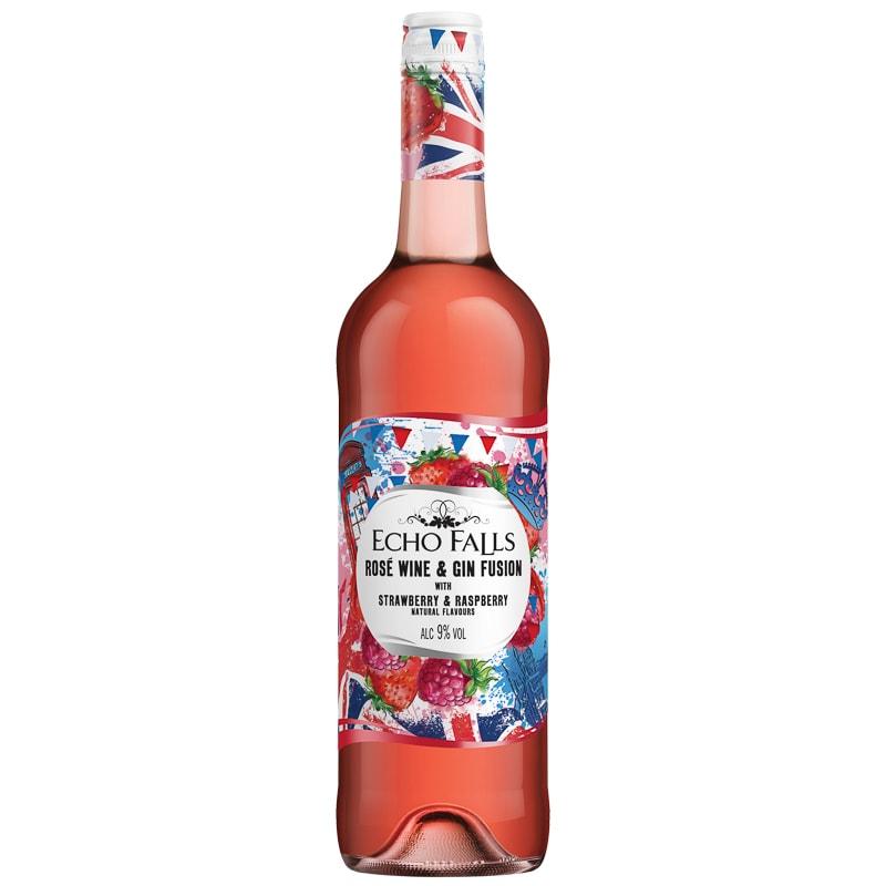 Echo Falls Rose Wine & Gin Fusion, Strawberry & Raspberry
